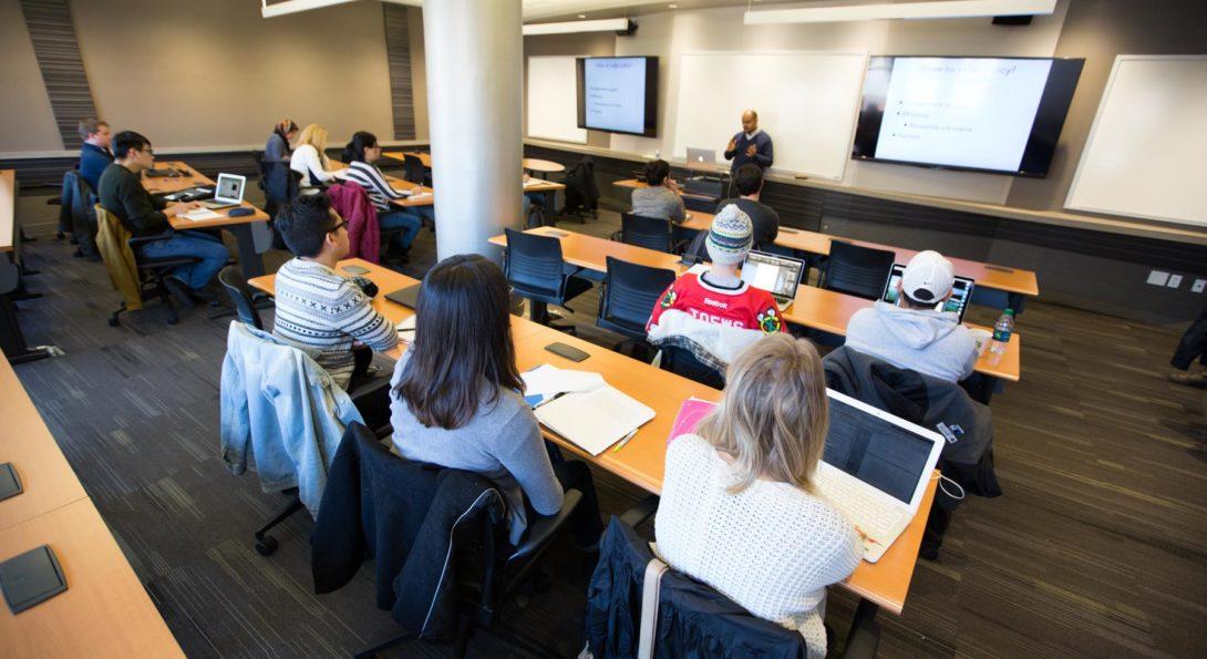 Professor Nebiyou Tilahun in class