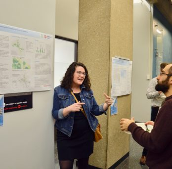 Shelley Hooverexplaining gis project