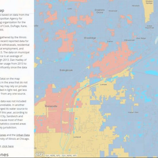 Where Do You Get Your Water? UDVL   CityXones; Map Published in Crain's Chicago Business